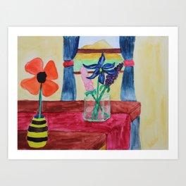 Flowers Inside Art Print