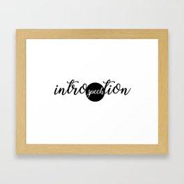 Intro(speck)tion Framed Art Print
