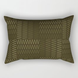 ZigZag with Complementary Color Rectangular Pillow