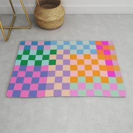 Checkerboard Collage Rug