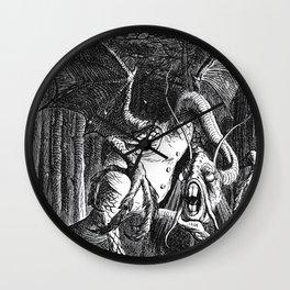 Jabberwocky Illustration from Alice in Wonderland Wall Clock
