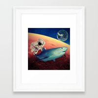 shark Framed Art Prints featuring Shark by Cs025