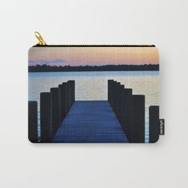 Boat Pier At Sunset Carry-All Pouch