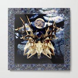 The Deer Cult Metal Print