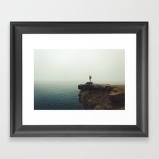 Stand Alone//Pictured Rocks Framed Art Print