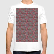 Gridlines Mens Fitted Tee White MEDIUM