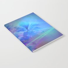 Soft  Colored Floral Lights Beams Abstract Notebook
