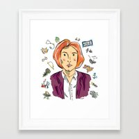 dana scully Framed Art Prints featuring Dana Scully by sarah sawtelle