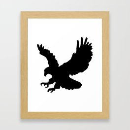Eagle Silhouette Framed Art Print