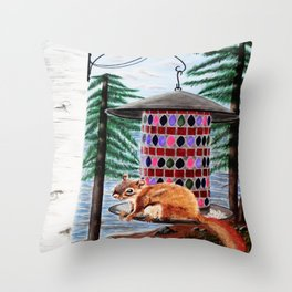 Squirely Buisness Throw Pillow