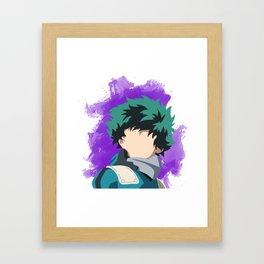 My Hero Academia Minimalist (Midoriya/Deku) Framed Art Print