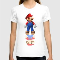 super mario T-shirts featuring Super Mario by idaspark