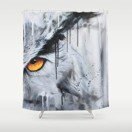 owl eye night vision Shower Curtain