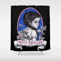 ahs Shower Curtains featuring Ma Petite by marziiporn