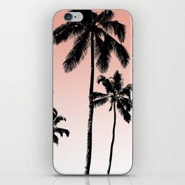 Sunset palms iPhone Skin