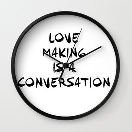 LOVERS AND LOVEMAKERS BY MONOFACES IN 2020  Wall Clock