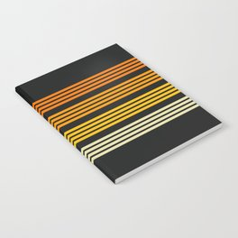 Kagekatsu - Classic Black Orange Retro Stripes Notebook