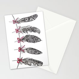Feather Bunting Stationery Cards