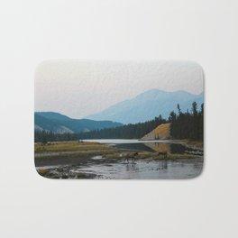 Dreamy Elk Sunset Bath Mat