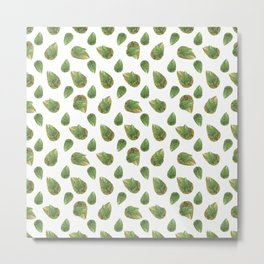 Leaves Motif Nature Pattern Metal Print