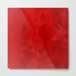 Red Polygon Background Metal Print