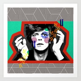 King Bowie Art Print