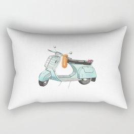 Watercolour | Bali Scooter Rectangular Pillow
