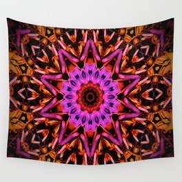 Pink Star Flower Wall Tapestry