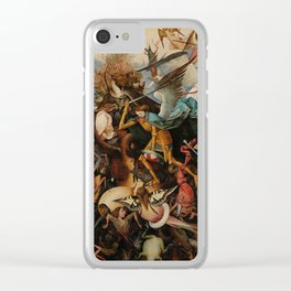 Pieter Bruegel the Elder The Fall of the Rebel Angels Clear iPhone Case