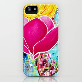 STAINED GLASS MAGNOLIAS iPhone Case