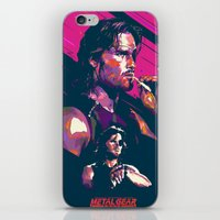 metal gear iPhone & iPod Skins featuring ESCAPE FROM METAL GEAR by mergedvisible