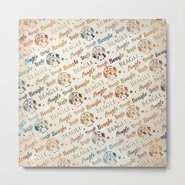 Beagle dog pattern Metal Print