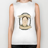 dwight schrute Biker Tanks featuring Dwight Schrute by Rhian Davie
