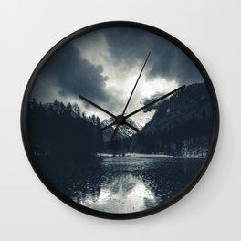 Darkness and rain at Zgornje Jezersko, Slovenia Wall Clock