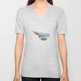 Avian Zeppelin Steampunk Poster Unisex V-Neck