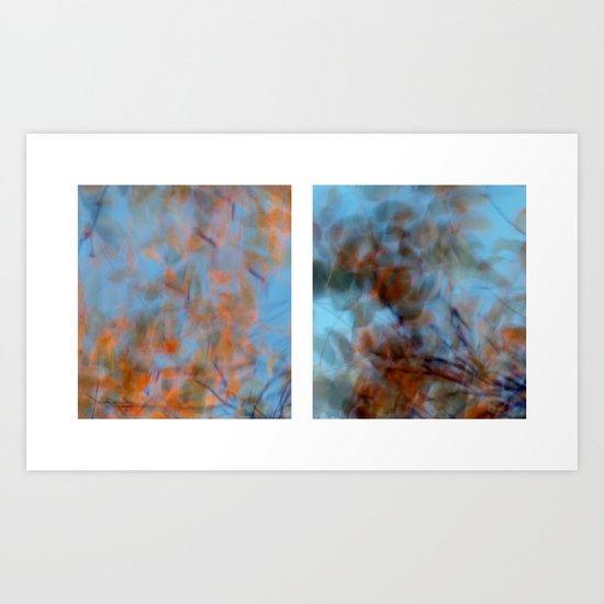 Autumn Impressions #1 - Diptych Art Print