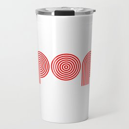 Pop (retro red) Travel Mug