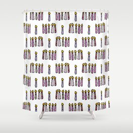 Cute colored birthday candles cartoon pattern Shower Curtain