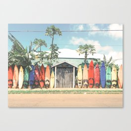 Surfboards Maui Hawaii Canvas Print