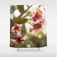 botanical Shower Curtains featuring Botanical  by dibec
