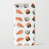 sushi iPhone & iPod Cases featuring Sushi by Jenny Viljaniemi