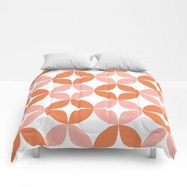 Mid Century Modern Motif Pattern in Burnt Orange and Blush Comforters