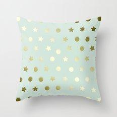 Gold Confetti Throw Pillow