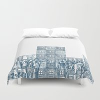 street art Duvet Covers featuring Street art by Willy Ollero
