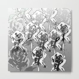 Gray bloom Metal Print