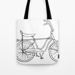 vintage witch bike Tote Bag