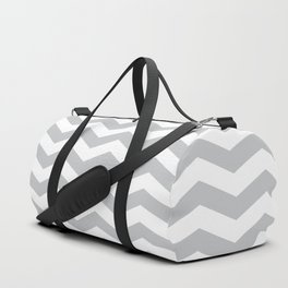 Light Grey Chevron Pattern Duffle Bag