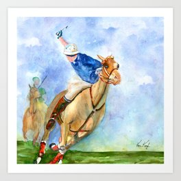 Polo Player Art Print