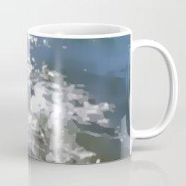 Abstracted waves splashing ashore Coffee Mug