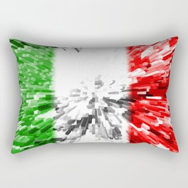 Extruded Flag of Italy Rectangular Pillow